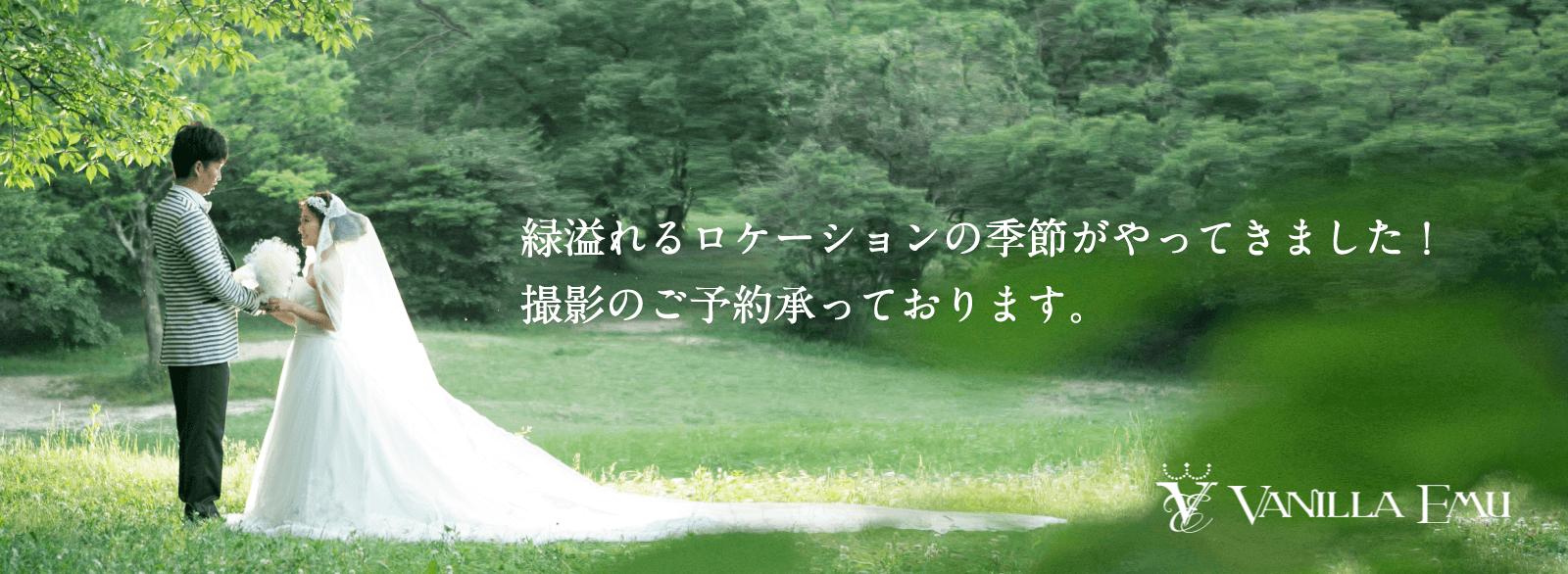 緑溢れるロケーションの季節がやってきました。