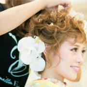 バニラエミュのヘアメイク